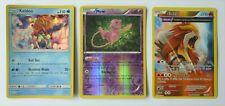 3 Rare Holo Pokemon Cards Lot Mew Entei Keldeo