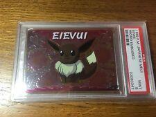 Pokemon 1999 Japanese Meiji Eevee Promo Embossed PSA 9 EXTREMELY RARE!