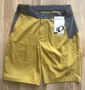 Pearl Izumi MTB Bike Men's Canyon Shorts Ecru Olive Medium NEW w/ Tags