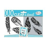 Aladine - Duo Clear and Stencil - Stamp and Stencil Kit - Scrapbooking and Cr...