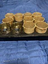 Lot Of 11 Glass Votive Cups Nip