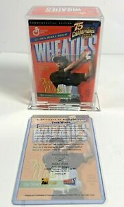 Tiger Woods Mini Wheaties Box, 75 Years Of Champions,1998, 24k Gold Signature.