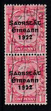Eire Ireland 1922-23 Used FU Definitive King George V 1d Overprinted Pair
