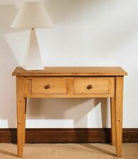Hampton waxed pine furniture console hall table