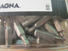 "100 MAGNA BY BOSCH INDUSTRIAL USA MADE SQUARE #2 SCREWDRIVER BITS TIPS 1"" 4-4pck"