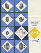 1960 Advertising Brochure for Norelco Speakers Hicksville Long Island NY