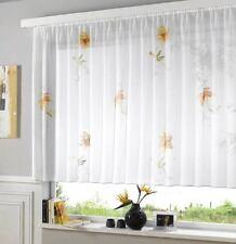 Gardine  Vorhang Höhe 175cm  breite  300cm  Store weiss Voile Digitaldruck