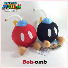 "2X Super Mario Bros Plush Bob-omb Bomb Soft Toy Doll Stuffed Animal Red Black 5"""