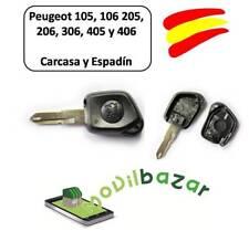 LLAVE CARCASA PEUGEOT 105 106 205 206 306 405 406 MANDO BOTÓN INFRARROJOS.ESPAÑA