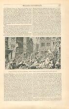 Emeute dans un Marché Cheval de Nello de Abraham Blooteling Peintre GRAVURE 1847