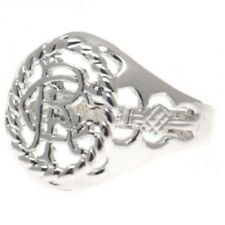 Rangers F.c. Silver Finish Crest Ring Large
