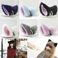 Cat Fox Long Ears Neko Costume Hair Clip Halloween Cosplay Party OrecchiettePTJ