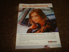 "ALLY McBEAL 100th episode 2002 congrats ad Calista Flockhart ""Ally McMilestone"""