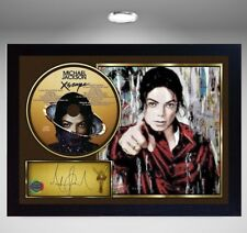"Michael Jackson SIGNED FRAMED PHOTO AND ""XSCAPE"" CD Disc Presentation Display"