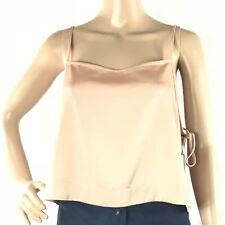 NWT Topshop W373 Womens Sz 10 Beige Lattice Side Detail Tank Crop Top Sexy Party