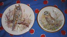 2 x Decorative Owl Plates including Royal Crafton. Good Condition