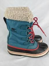 Sorel Womens Winter Carnival Snow Boots Blue Lace Up Waterproof Faux Fur Trim 8