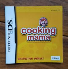 INSTRUCTION BOOKLET FOR COOKING MAMA NINTENDO DS MANUAL