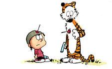 Calvin and Hobbes Iron On Transfer Light or Dark Fabrics 5 x 7 Size