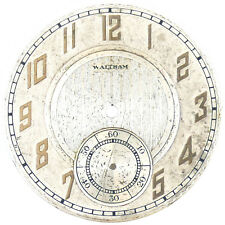 For Parts Or Repairs Waltham Arabic Numerals Silver Dial