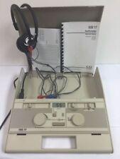 Gsi 17 Audiometro con Telephonics Cuffie e Caricabatterie ~ Ottime Condizioni
