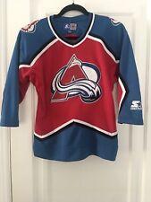 Vintage Starter NHL Colorado Avalanche Hockey Sewn Jersey S/M EUC
