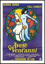 AVERE VENT'ANNI MANIFESTO CINEMA GLORIA GUIDA FERNANDO DI LEO ITA 1978 POSTER 2F