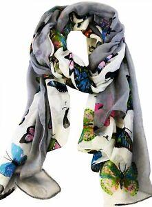 ELSA & ANNA® Viscose Butterfly Print Lady Scarf Wrap Shaw Stole Maxi Hijab SCF12