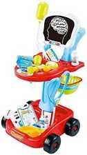 22 pedazo rojo médicos enfermeros médicos carro de juguete de juego de rol se enciende 660-44