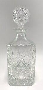 Vintage Cut Glass Whisky Decanter Drinks Bar