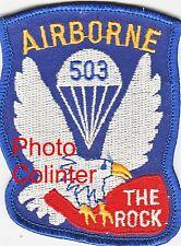 """Airborne 503rd P.I.R. """" The Rock """" - Ecusson / Insigne tissus - Paras"""
