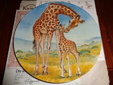 Knowles Collectors Plate A KISS FOR MOTHER From SIGNS OF LOVE Giraffe