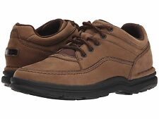 Rockport Mens Shoes World Tour Walking Chocolate Medium Wide All Sizes
