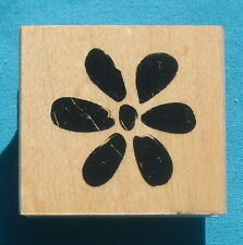 "Great Impressions rubber stamp FLOWER BLOSSOM C369, 1½"" x 1⅝"" wood block, floral"
