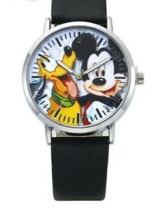Mickey Mouse  Quartz Watch featuring Mickey and Pluto. New