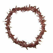 Jesus Crown of Thorns Costume Rubber Hat Headpiece for Biblical and Easter