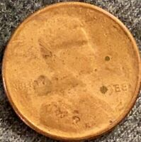 1988 Penny Full Obverse Brockage Mint Error