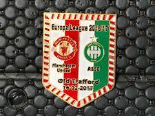 PINS BADGE FOOTBALL SOCCER ASSE SAINT ETIENNE VS MANCHESTER UNITED