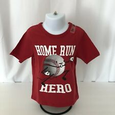 """Place boys 3T t-shirt crew neck red """"Home Run Hero"""" new with tags"""