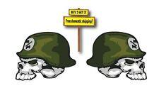 Metal Mulisha Full Color Left and Right Facing Decals/Sticker skull Helmet 5x6.3