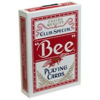 Bee Standard Index Red Deck Poker Playing Cards Club Special Magic Tricks USPCC