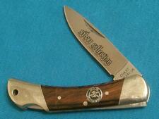 VINTAGE COAST JAPAN 7100 BOBCAT ICCUT SILVER MOOSE LOCKBACK FOLDING KNIFE KNIVES