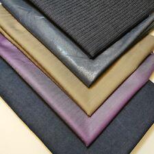 "Soft Plain Pin-Stripe Denim Craft Dress Fabric Material 58"" By Meter"