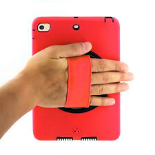 Red Heavy Duty Shockproof Cover Stand Strap For Apple iPad Mini 2 3 1 Case