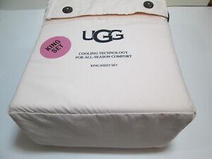 New UGG ALAHNA Cooling Technology For All-Season Comfort King Sheet Set ~ Shell
