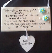 Personalised Not Child at Birth Special Step Mum Foster Mothers Day Gift Plaque
