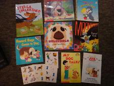 lot 8 DOG Puppy BOOKS kids + Stickers Unlovable Howard William doggy xmas stocki