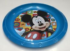 DISNEY MICKEY MOUSE KIDS PLASTIC MEALTIME FOOD DINNER PLATE ZAK DESIGNS