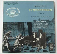 MOLIERE - LE MISANTHROPE (33T 25cm) JEAN MEYER FRANCOISE FABIAN JACQUES CASTELOT