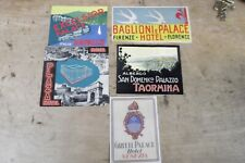 Group of 5 MINT, UNUSED Vintage Luggage Stickers-Italy--GROUP 8
